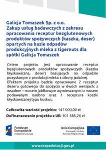GT Group - projekt UE - dofinansowanie - kaszka zmleka Tigernuts